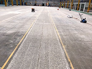 Upgrading a warehouse floor with FASTFLOOR-IT